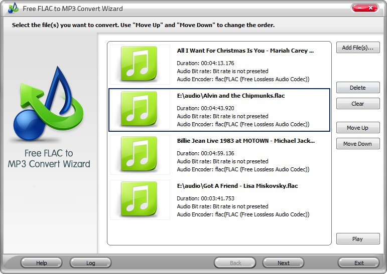 Free FLAC to MP3 Convert Wizard Download