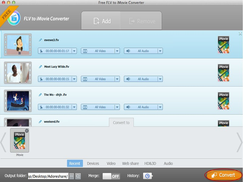 Free FLV to iMovie Converter for Mac Download