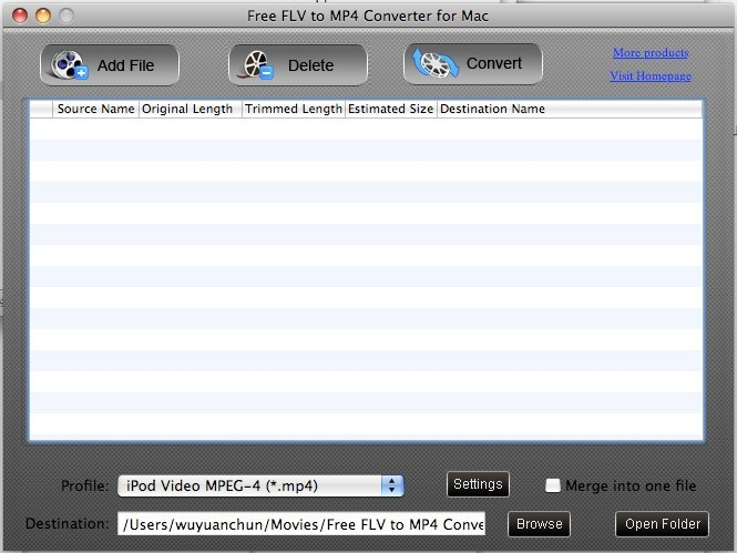Free FLV to MP4 Converter for Mac Download