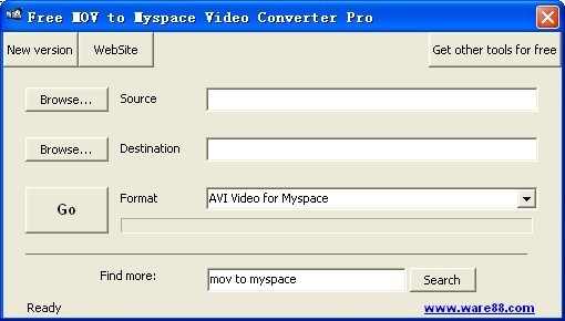 Free MOV to Myspace Video Converter Pro Download