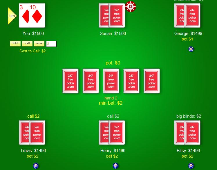 free texas holdem games