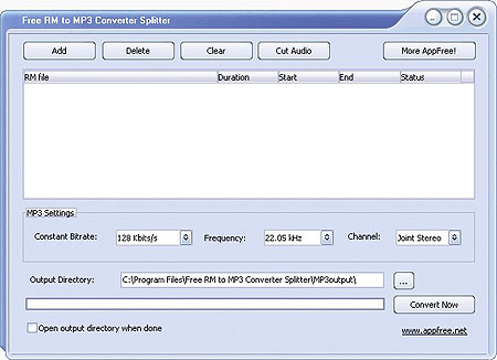 Free RM to MP3 Converter Splitter Download