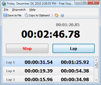 Free Stopwatch Portable Download