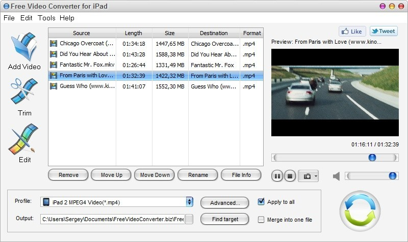 Free Video Converter for iPad Download