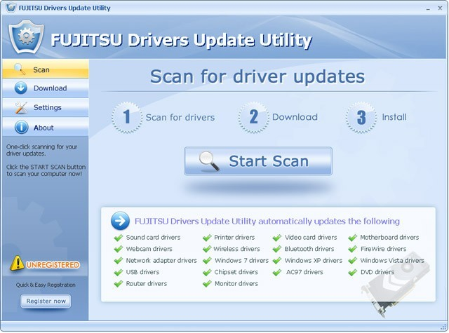 FUJITSU Drivers Update Utility For Windows 7 64 bit Download