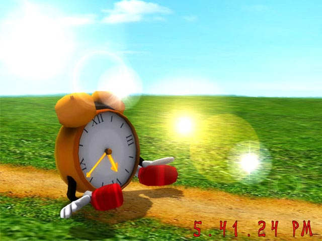 Funny Clock 3D Screensaver Download