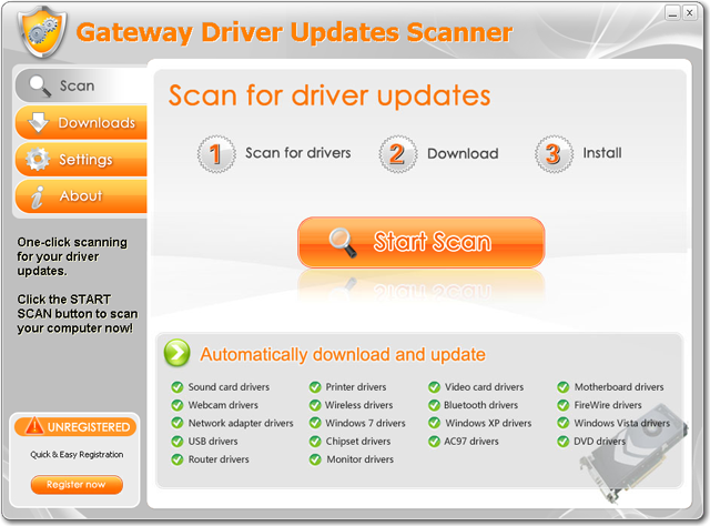 Gateway Driver Updates Scanner Download