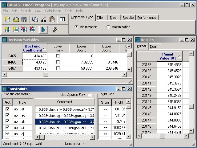 GIPALS - Linear Programming Environment Download