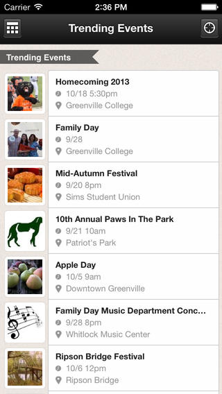 Greenville College Events Download
