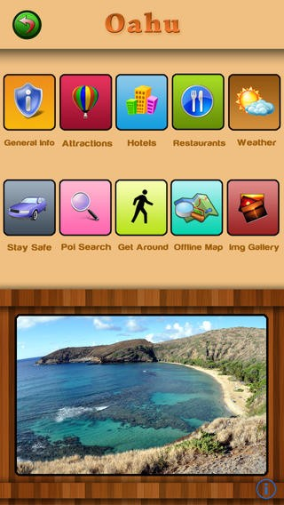 Hawaii Islands Offline Map Travel Guide Download