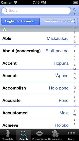 Hawaiian Words - Translation and Dictionary Download