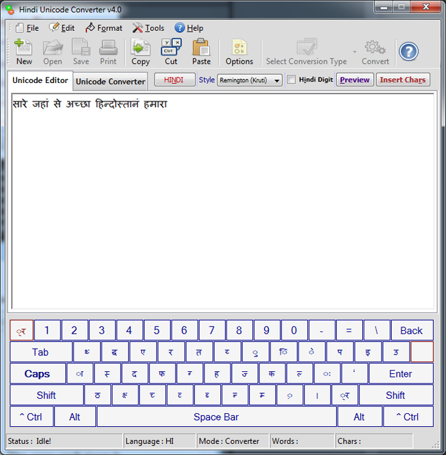 Hindi Unicode Converter & Writer Download