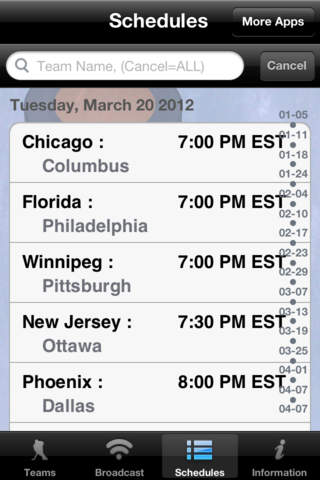 Hockey Radio & Schedules for Free Download