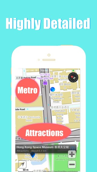 Hong Kong offline map and city maps 2go by BeetleMaps Download