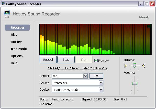 Hotkey Sound Recorder Download