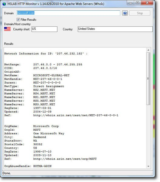 HSLAB Free Whois Download