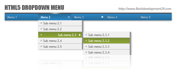 HTML5 Dropdown Menu DW Extension Download