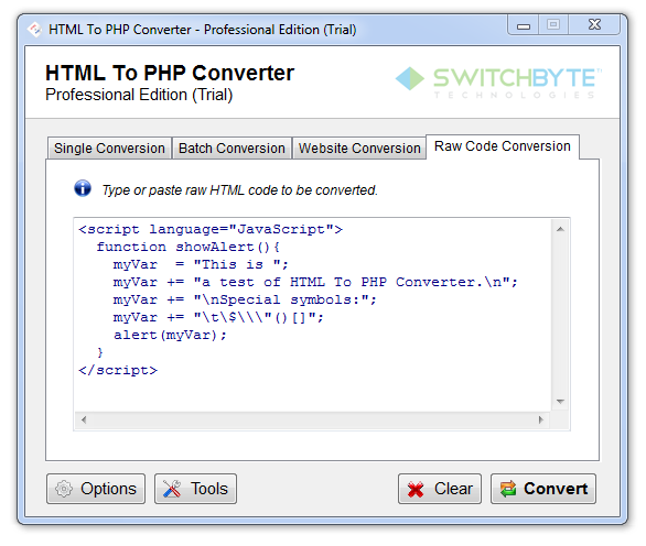 HTML To PHP Converter Download