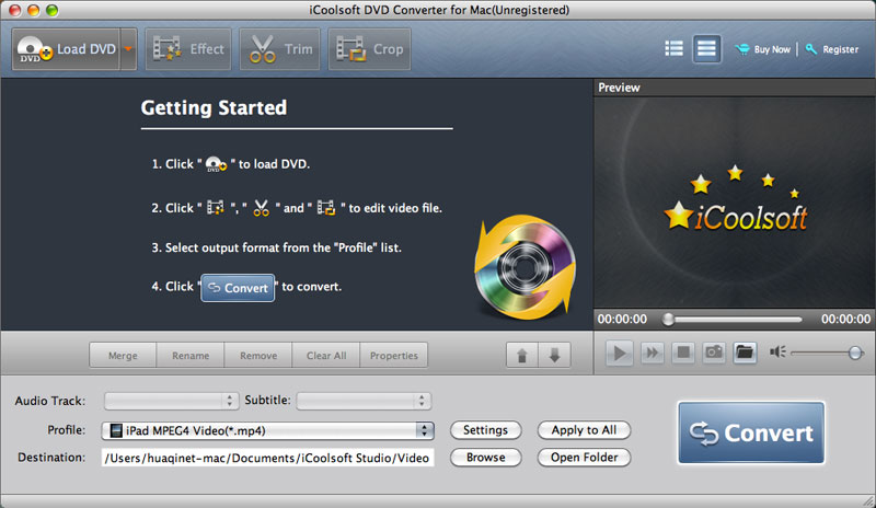 iCoolsoft DVD Converter for Mac Download