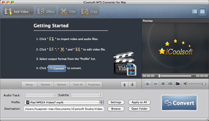 iCoolsoft MTS Converter for Mac Download