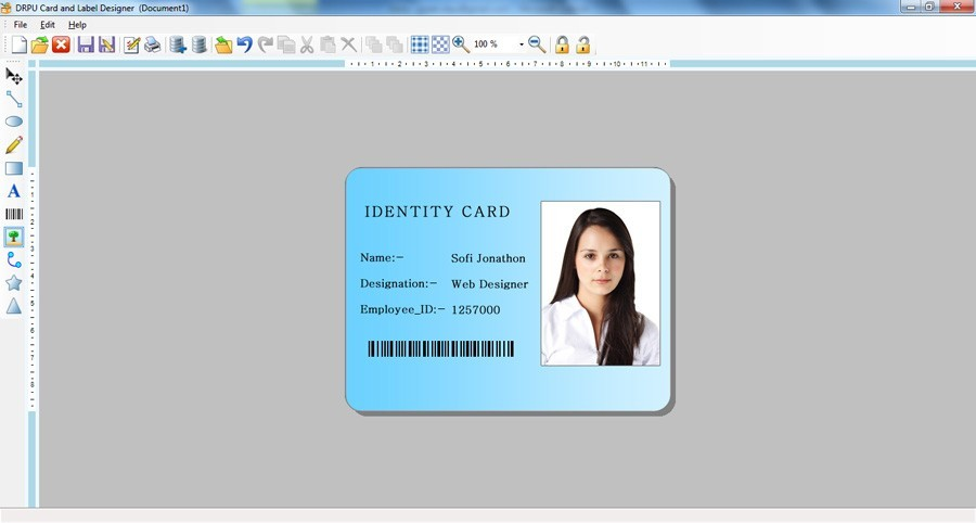 Id card design software free download full version for Free online office design tool