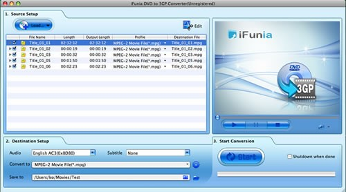 iFunia DVD to 3GP Converter for Mac Download
