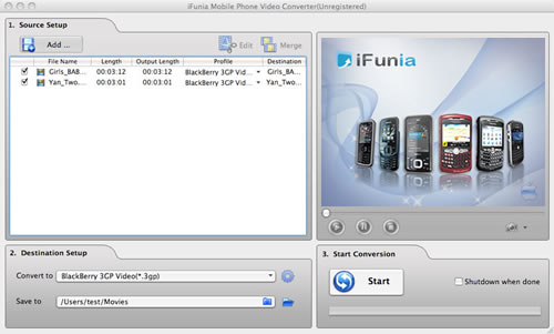 iFunia Mobile Phone Video Converter for Mac Download