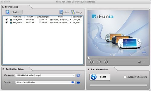 iFunia PSP Video Converter for Mac Download