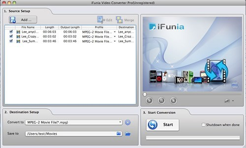 iFunia Video Converter Pro for Mac Download