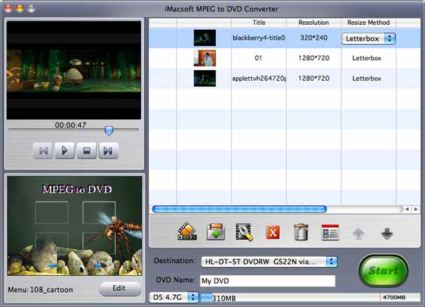 iMacsoft MPEG to DVD Converter for Mac Download