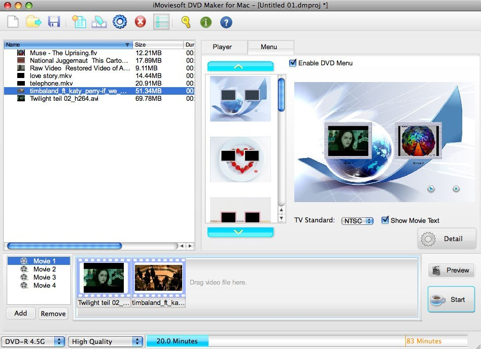 iMoviesoft DVD Maker for Mac Download