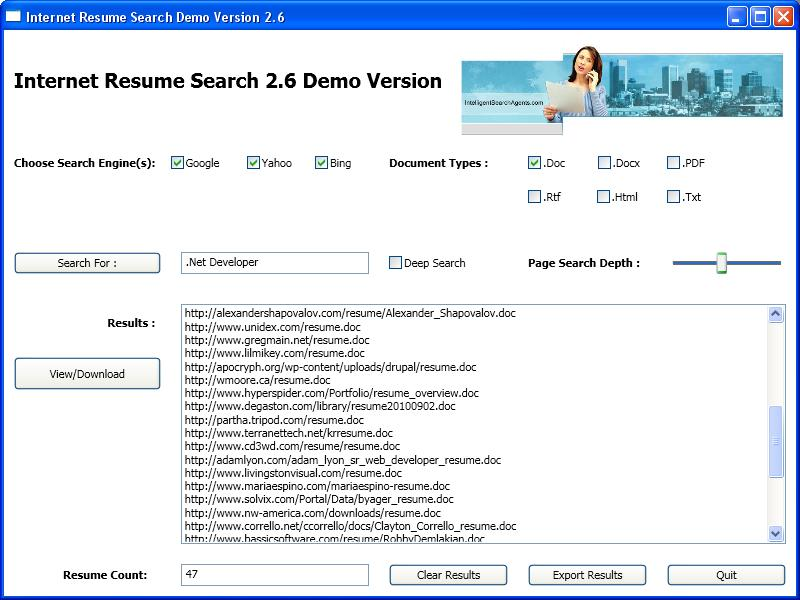 Internet Resume Search Download