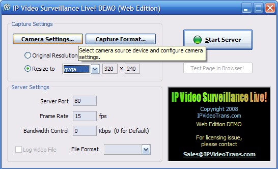 IP Video Surveillance Live! DEMO Download