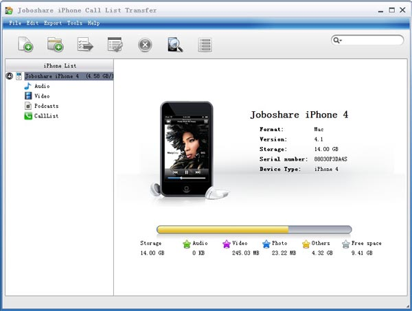 Joboshare iPhone Call List Transfer Download