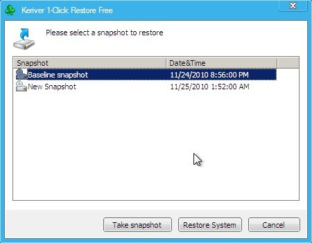 Keriver 1-Click Restore Free Download