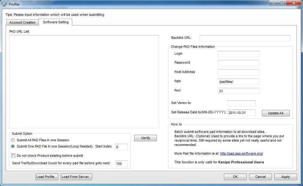 Ksnipe Software Submitter Download