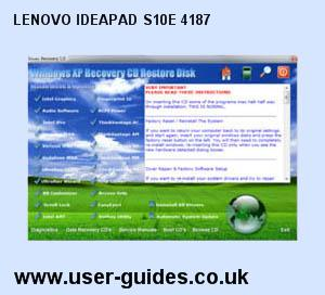 Lenovo IdeaPad S10e 4187 Windows XP Drivers Download