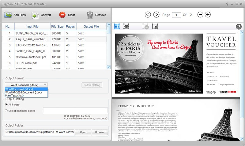 Lighten PDF to Word Converter Download