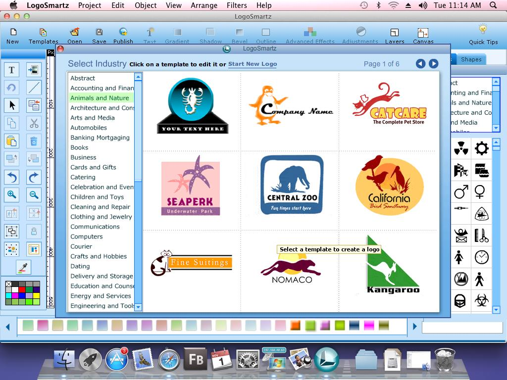 Screenshot Review Downloads Of Shareware Logo Smartz Logo Software For Mac
