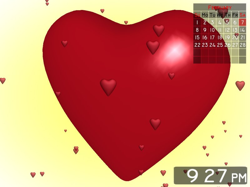 If you are romantic and passionate nature love heart 3d screensaver has been