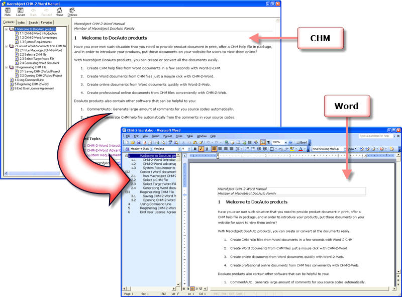Macrobject CHM-2-Word Converter 2007 Download