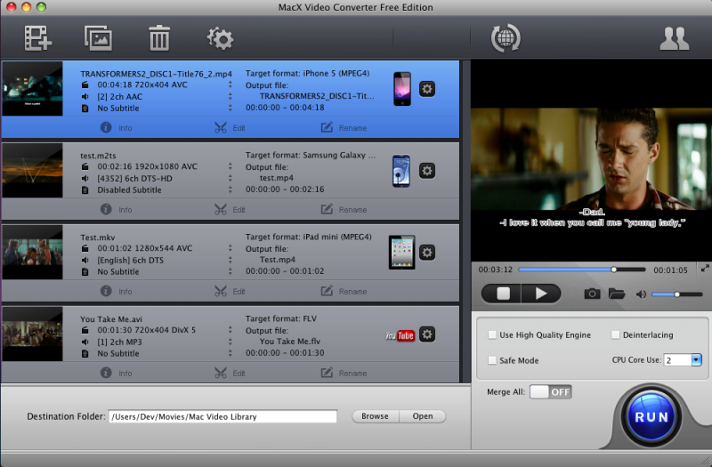 MacX Video Converter Free Edition Download