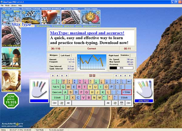 MaxType PRO Typing Tutor Download