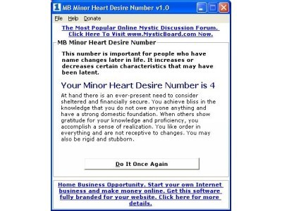 MB Minor Heart Desire Number Download