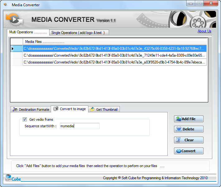 Media Converter Convert media file to any formate Download
