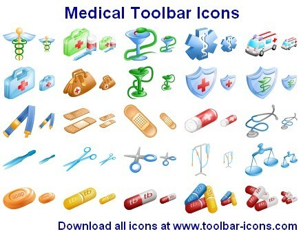 Medical Toolbar Icons Download