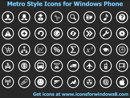 Metro Style Icons for Windows Phone Download