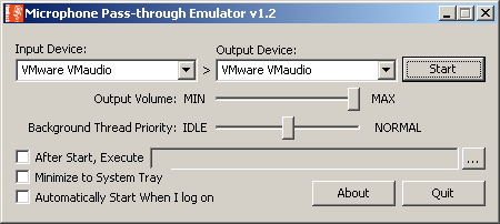 Microphone Pass-through Emulator Download