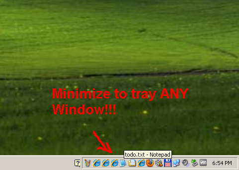 Move to Tray Any Window Software Download
