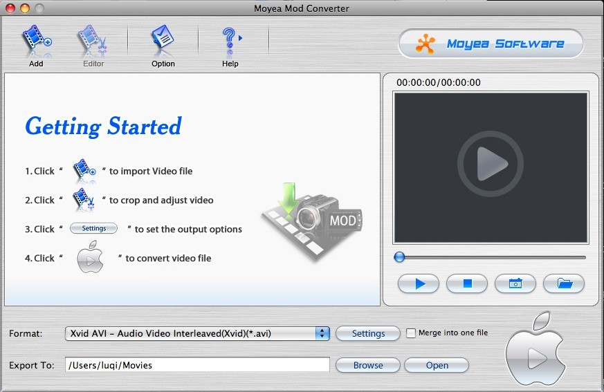 Moyea MOD Converter for Mac Download